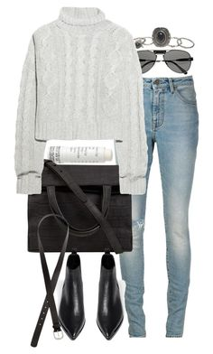"""""""Untitled #7562"""" by nikka-phillips ❤ liked on Polyvore featuring Korres, Chloé, Wet Seal, Yves Saint Laurent, Alexander Wang, Bamford, Acne Studios and H&M"""