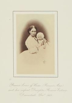 Dec 1863, Darmstadt; Alice and daughter Victoria