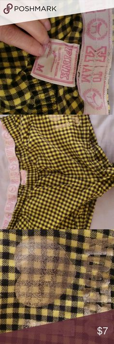 """Collegiate Collection VS Pink Boxers Yellow and black checks, with gold """"I love Oregon."""" Super cute, comfy and soft, in GUC. Bundle for a great deal! PINK Victoria's Secret Intimates & Sleepwear Pajamas"""