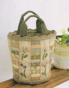 PDF Pattern of  Basket handbag  bag coin purse by Patternsinlove, $5.00 etsy