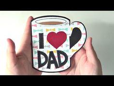 """TUTORIAL: """"Compartamos una taza de Café""""   Tarjetería   Especial Día del Padre - YouTube"""