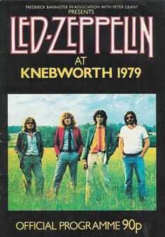 11th Aug 1979, Led Zeppelin played their last ever UK show when they appeared at Knebworth House, England. The set list included: The Song Remains The Same, Celebration Day, Black Dog, Misty Mountain Hop, Since I've Been Loving You, No Quarter, Hot Dog, The Rain Song, White Summer/Black Mountainside, Kashmir, Trampled Under Foot, Sick Again, Achilles' Last Stand, In The Evening, Stairway To Heaven, Rock And Roll, Whole Lotta Love and Communication Breakdown.
