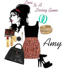 Love Is A Losing Game by silversilvia on Polyvore featuring moda, Nly Shoes, Marc Jacobs, G by Guess, Estée Lauder, Betsey Johnson, Lalique and Amy Winehouse