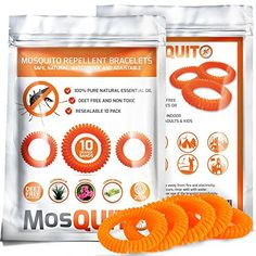 MosQuitO Repellent Bracelets 10 pack  100 Natural Ingredients Insect Repellent  Safe Waterproof with Citronella Lemongrass Geraniol  DEET FREE  Insect Protection for Kids  Adults ** Want to know more, click on the image.