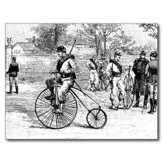 soldier on a penny-farthing
