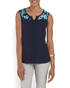 image of Floral And Lace Tank