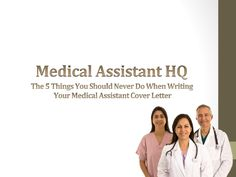 Medical Assistant what a writer does