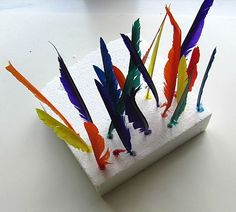 What an easy activity.Great fine motor and color matching activity. Perfect for free choice at preschool!