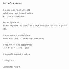 gedicht moeder