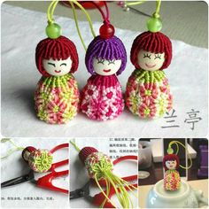 Tutorial macrame doll