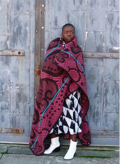 Royal: The Basotho Blanket African Inspired Fashion, Ethnic Fashion, African Fashion, Womens Fashion, African Style, Bohemian Fashion, Long Winter Coats, Bohemian Style, Ethnic Style