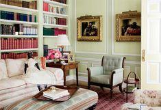 The library in Oprah's Santa Barbara home