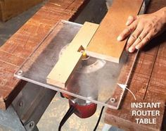 ❧ quick router table. + other router tips and tricks.