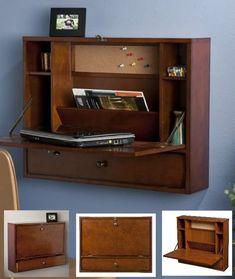 Wall Mount Folding Computer Desk Storage Shelf Laptop Floating Table Home  Office #WallMountFoldingComputerDeskSEI #Contemporary