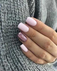 36 Unique & Beauty Winter Nail Design To Season - CrochetingNeedles., - 36 Unique & Beauty Winter Nail Design To Season – CrochetingNeedles…, - Sns Nails Colors, Nail Polish Colors, Winter Nails Colors 2019, Spring Nail Colors, Purple Nail, Magenta Nails, Baby Pink Nails With Glitter, Pastel Pink Nails, Pale Nails