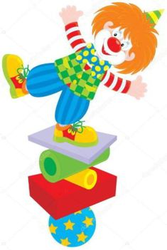 Illustration about Vector clip-art of a funny circus clown balancing on a few objects. Illustration of children, childhood, funny - 24493790 Circus Birthday, Circus Theme, Circus Crafts, Clown Party, Library Themes, Artsy Background, Branch Vector, Alcohol Ink Crafts, Send In The Clowns