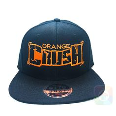 d27b10525ed Orange Crush Flat Six Panel Pro Style Snapback OttoCap  1317 Black Snapback  Hats