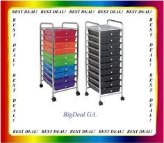 *Could be useful for craft, coloring and beading organization.* Think about this??  Chrome 10 Drawer Rolling Craft Organizer Caster