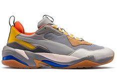 Puma Thunder Spectra Grey Yellow Yellow Shoes, Grey Yellow, Dad Shoes, Puma Sneakers, Hottest Women, Metallic Blue, Shoes Women, Spectrum, Thunder