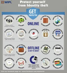 Protect yourself from Identity theft Identity Fraud, Online Dating, Geeks, Good To Know, Infographic, Knowledge, Internet, Facts, Letters