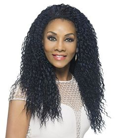 Vivica A Fox Hair Collection FHW-MEENA New Futura Synthetic Fiber Express Half Wig, 1B, 11.3 Ounce ** This is an Amazon Affiliate link. Be sure to check out this awesome product.