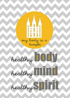 Our 2013-2014 family theme: My Body is a Temple. Free Printable. #overstuffedlife