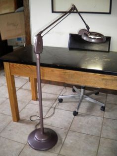 1940s Vintage Dazor Floating Fixture With Magnifying
