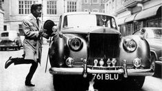 April singer, film star and Rat Pack member Sammy Davis Junior - skips to his Rolls Royce. He is in England for a week of variety performances at the Empire Theatre, Liverpool. (Photo by Keystone/Getty Images) Rolls Royce Silver Cloud, Pink Floyd, Vintage Cars, Vintage Photos, Royce Car, Hispano Suiza, Sammy Davis Jr, Buick Riviera, Thing 1