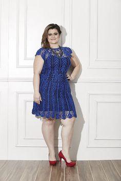 PLUS SIZE - Vestido Azul