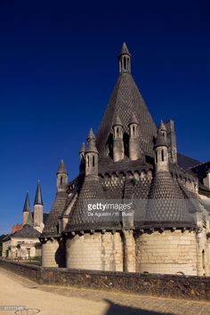 Stock Photo : External view of kitchens, built in 1160 and renovated in 1904, Fontevraud abbey, founded in 1101 by Robert dArbrissel, Fontevraud-lAbbaye, Loire valley (UNESCO World Heritage List, 2000), Pays de la Loire, France