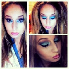 70s makeup, disco, girls night out, Halloween, party, blue eye shadow