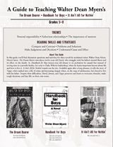 Teacher's Guide to The Dream Bearer, Handbook for Boys & It Ain't All for Nothin' by Walter Dean Myers