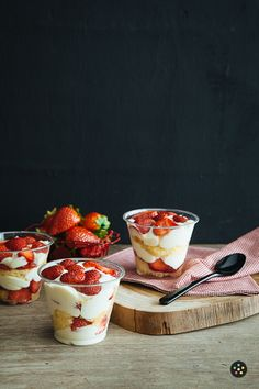 Tres Leches with Strawberries Cake Cups