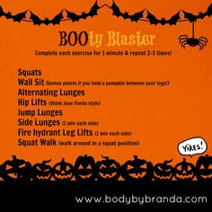 Halloween Workout: Blast your BOOty!!