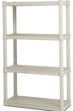 Shelf Shelving Unit Space Storage Shelves Organizer Rack Heavy Plastic Clean New