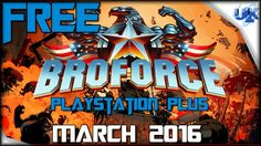 BROFORCE FREE PLAYSTATION PLUS GAME Gameplay (PS4 HD)