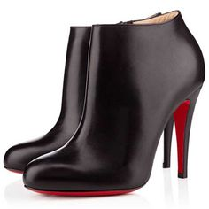 Christian Louboutin Belle Black Leather Ankle Boots