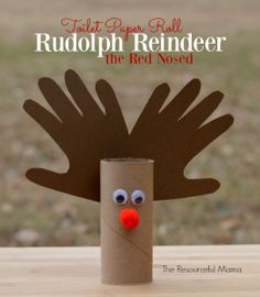Toilet paper roll Rudolph the nosed reindeer great Christmas craft for kids
