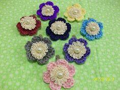Little Flower Hair Clips Handmade $2.50/pc.