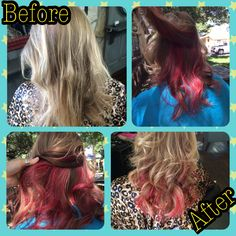 Some funky color for this little momma!  Hair by Caitlin  J Gibson Salon