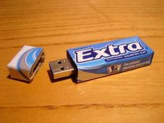 USB Holder from a Chewing Gum Packet