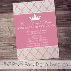 Free printable princess party invitation with editable text fields