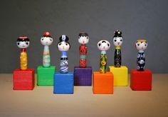 Glass Kokeshi Bead Sculptures Kazumi Kobayashi Svenson