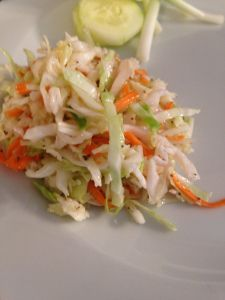 I am extremely picky with my Cole Slaw. I haven't made it in years. It just sounded good for today and I needed a no mayo (egg/dairy) recipe. This slaw rocked! I will be making this many more…