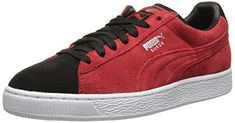 PUMA Mens Suede Classic  Sneaker High Risk RedBlack 7 M US *** Click image to review more details. Note: It's an affiliate link to Amazon