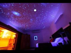 Galaxy hologram nighttime ceiling