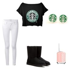 """Starbucks"" by chayes-2 on Polyvore"