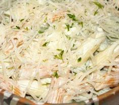 Paste cu sos de smântână și brânză Romanian Food, Potato Salad, Cabbage, Food And Drink, Pasta, Meat, Chicken, Vegetables, Cooking