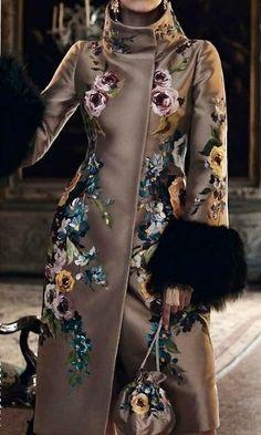 Stunning coat.  #EmbellishedCoat #VonGiesbrechtJewels