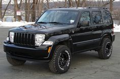 Browse Jeep Liberty Black Lifted